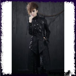 PUNK RAVE DUNGEON MASTER TRENCH COAT   PUNK/GOTHIC/BL​ACK/JACKET