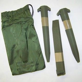 Long Military Tent Stakes & Bag   Quality Heavy Duty Aluminum *NEW