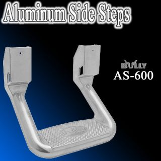 ) Bully Chevy GMC Silver Pickup Truck SUV Nerf side Step bar Aluminum