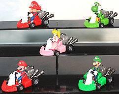 super mario bros kart pull back car 2 figure toy lot5