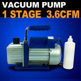4HP Vacuum Pump 3 3.6 CFM Rotary Vane Deep HVAC Tool AC R410a R134 R22