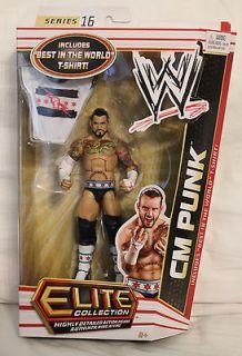 CM Punk WWE Elite 16 Mattel action figure MOC w/ Best in the World T
