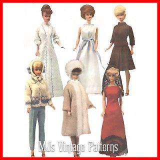 Vintage Doll Clothes Pattern ~ Barbie, Tammy