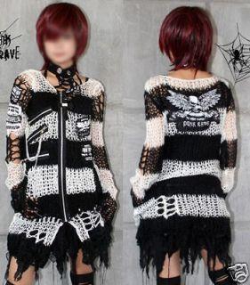 Visual Kei Punk Gothic kimono lolita coat Sweater emo w