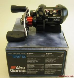 ABU GARCIA AMBASSAD REVO SX 6.4:1 RATIO RIGHT HAND BAITCAST REEL