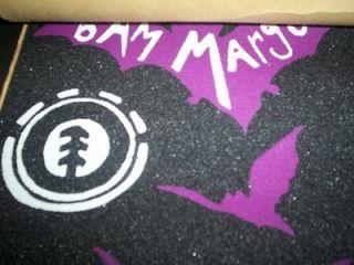 NEW ELEMENT/BAM MARGERA PURPLE/BLACK BAT STYLE SKATEBOARD GRIP STRIP