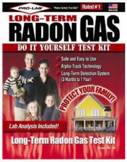 Pro Lab Long Term Radon Gas Do yourself Test Kit RL116