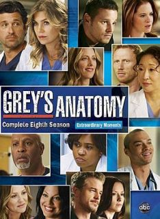 Greys Anatomy The Complete Eighth Season 8 (DVD, 2012, 6 Disc Set)