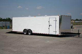 5x28 Enclosed Cargo Auto Car Hauler 8.5 X 28 RACE READY OPTION SPECIAL