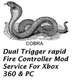 Dual Trigger Rapid Fire Controller Mod Service Xbox 360 & PC ~~
