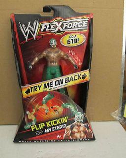 NIB WWE REY MYSTERIO GREEN MASK FLIP KICKIN FLEX FORCE ACTION FIGURE