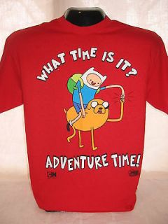 Time Finn Jake What Time Red T Shirt Tee TV Series Show Apparel XL 19