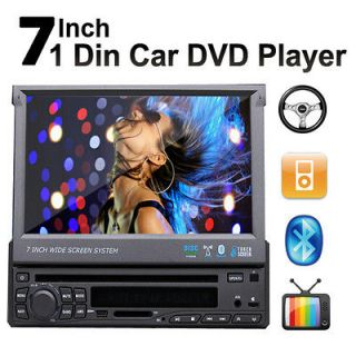 HD 7 LCD TOUCH SCREEN AUTO CAR DVD/CD/MP3 PLAYER BT RADIO USB SD TV