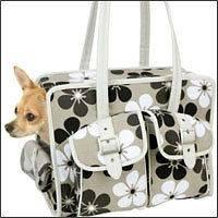 Snoozer Slant Pocket Tote Pet Carry On Bag Purse Travel Carrier Dog