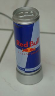RED BULL Mini Light Up PROMO CAN For Display Measures 6  1/4 Inch