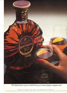 Original 1970s Breweriana advertisement   REMY MARTIN XO COGNAC