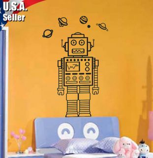Wall Decor Art Vinyl Removable Mural Decal Sticker Nursery Lego Robot