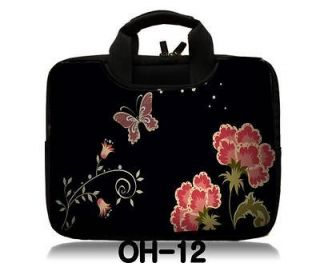 Red Flower 17 17.3 Inch Laptop Notebook Carry Case Handle Bag Sleeve