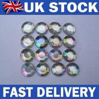 Clear AB flat back diamante rhinestone gems nail art/cardmaking