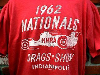 HOT RAT ROD 1962 NHRA NATIONALS T SHIRT FORD CHEVY MOPAR GASSER IHRA
