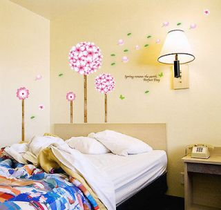 Beautiful Flower Tree Removable Wall Sticker Mural Wall Decal Decor