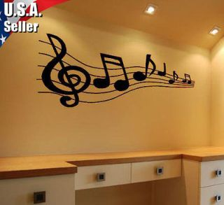 Wall Art Decor Removable Vinyl Decal Sticker Musical Music Music Notes