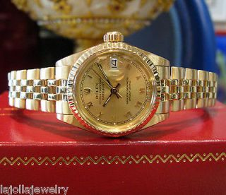 LADIES VINTAGE ROLEX OYSTER PERPETUAL DATEJUST PRESIDENT SOLID 18K
