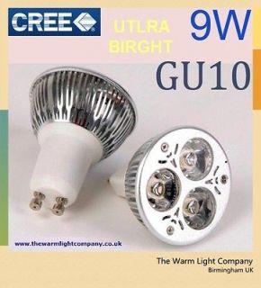 3W 6W 9W LED Spotlight Lamp Light Bulb Base Warm White Globe 50W K