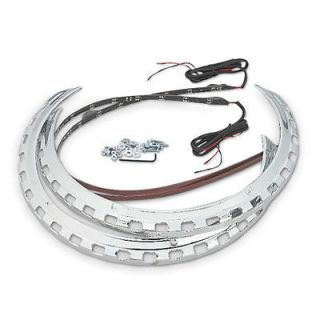 TRI COLOR CHROME ROTOR COVER LED LIGHT RINGS GL 1500 GOLD WING