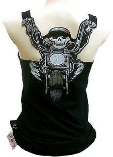 Rockabilly Punk Rock Baby CHOPPER BIKER SKULL Hot Rod Tattoo TANK TOP