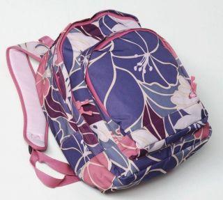 ROXY Large Tropical Backpack Travel Bag Bolsa Sac Dos Lilac Antik PINK