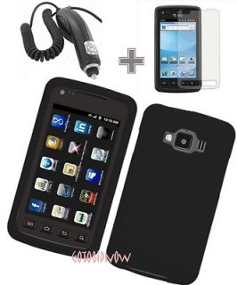 SILICONE SLEEVE SKIN CASE+CAR CHARGER+LCD for Samsung Rugby Smart