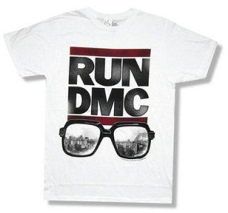 RUN DMC   DOWN WITH RUN SUNGLASSES WHITE T SHIRT   NEW ADULT 2XL XXL