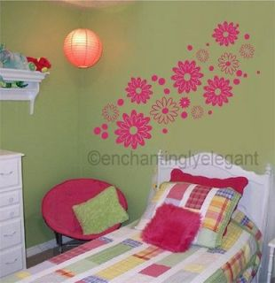 Flowers Vinyl Decal Wall Sticker Teen Girl Room Nursery Baby Decor Art