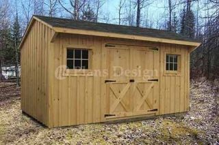 14 Utility Saltbox Roof Style Shed Plans #70814