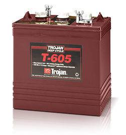 Trojan 6 Volt T 605 Golf Cart Batteries   6 Batteries
