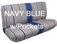 Full Sz Truck Bench Seat Cover Saddle Blanket NAVY BLUE