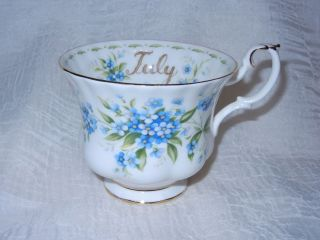 Royal Albert Bone China Tea Cup July Forget Me Not Flower of the Month