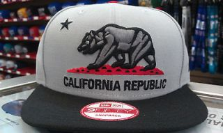 NEW ERA 9FIFTY CALIFORNIA REPUBLIC SNAPBACK CAP, HAT GREY/BLACK