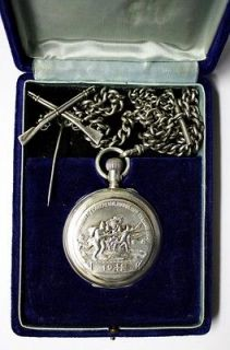 Rare WWI Award Russian Silver Pavel Bure Paul Buhre Pocket Watch