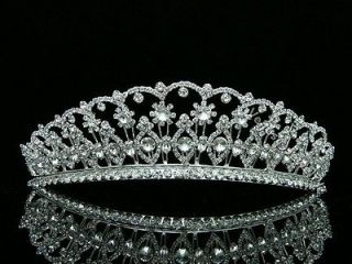 Bridal Pageant Rhinestone Crystal Prom Wedding Crown Tiara 8606