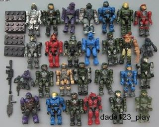 Mega Bloks Halo Reach Figure Master Cheif Spartan Grunts Arbiter M54