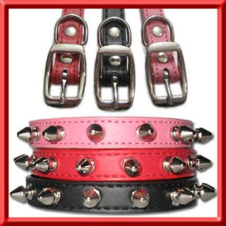 pink spiked dog collars in Spiked & Studded Collars