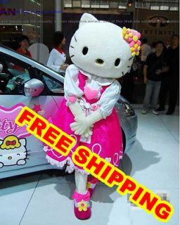 New Hello Kitty Adult Mascot Costume Fancy Party dress Size women men