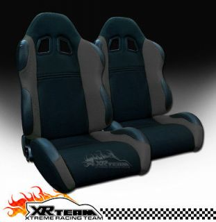 Fabric & PVC Leather Sport Racing Seats+Sliders 11 (Fits Ford Ranger