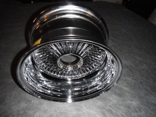 100 spoke 13/7 reverse dayton chrome wire wheel knock off rim