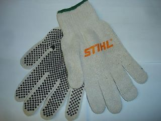 STIHL NEW CLOTH ALL PURPOSE GLOVES WITH RUBBER TYPE GRIPS