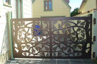 DRIVEWAY GATE SALE FACTORY DIRECT METAL ART GARDEN WROUGHT IRON
