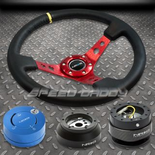 NRG 006RD STEERING WHEEL+HUB+CARB​ON QUICK RELEASE+BL LOCK KIT 69 02