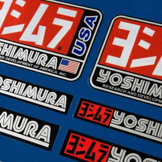 6pcs Premium YOSHIMURA Stickers Decals Graphics Aufkleber Autocollant